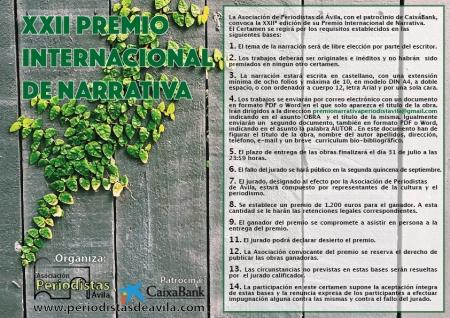 Bases Premio Narrativa 2017
